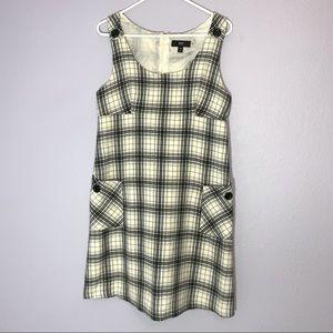Mossimo Plaid Dress Pinafore Check Wool Blend